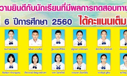 ขอแสดงความยินดีกับนักเรียนได้คะแนนเต็ม O-Net 100 คะแนน